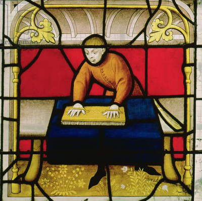 Cloth Merchant's Window (stained glass) (detail of 155370)