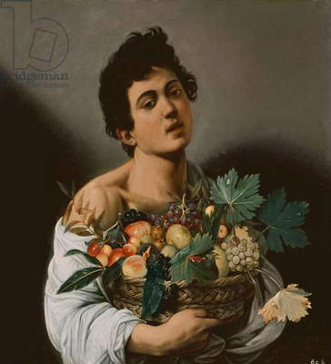 Youth with a Basket of Fruit, 1594 (oil on canvas) (detail of 104940)