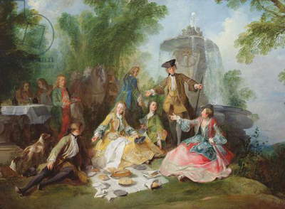 The Hunting Party Meal, c. 1737 (oil on canvas)