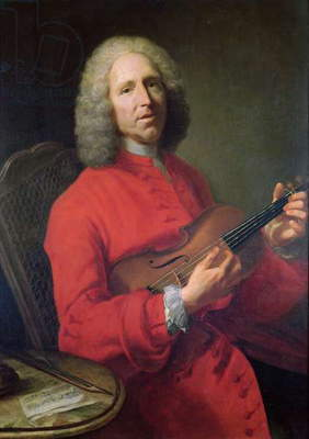 Jean-Philippe Rameau (1683-1764) with a Violin (oil on canvas)