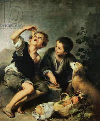 Children Eating a Pie, 1670-75 (oil on canvas)