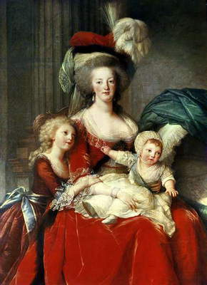 Marie-Antoinette (1755-93) and her Four Children, 1787 (oil on canvas) (detail of 3822)