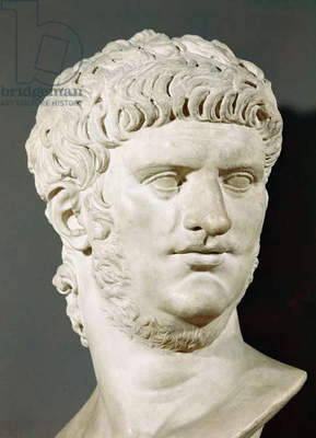 Bust of Nero (37-68 AD) (stone)