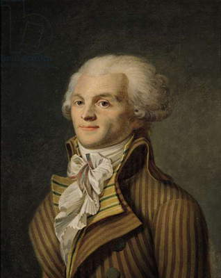 Portrait of Maximilien de Robespierre (1758-94) (oil on canvas)