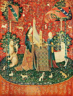 The Lady and the Unicorn: 'Hearing' (tapestry)