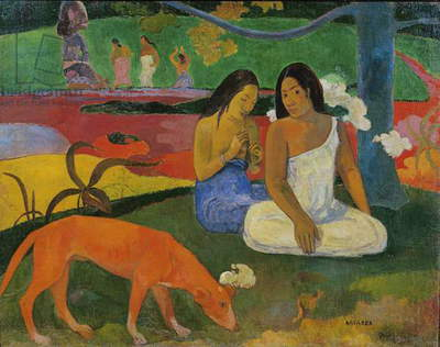 Arearea (The Red Dog), 1892 (oil on canvas)