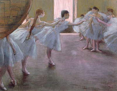 Dancers at Rehearsal, , 1875-1877 (pastel on cardboard)