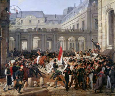 The Duke of Orleans Leaves the Palais-Royal and Goes to the Hotel de Ville on 31st July 1830, 1832 (oil on canvas)