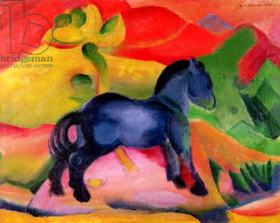 Little Blue Horse, 1912 (oil on canvas)