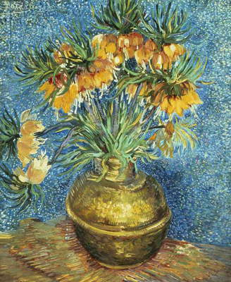 Crown Imperial Fritillaries in a Copper Vase, 1886 (oil on canvas)