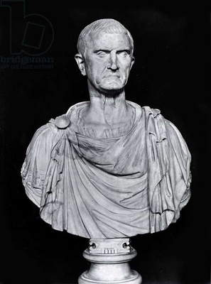 Bust of Marcus Licinius Crassus (c.115-53 BC) (stone) (b/w photo)
