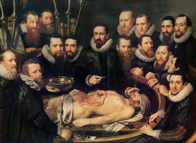 The Anatomy Lesson of Doctor Willem van der Meer in Delft, 1617 (oil on canvas)