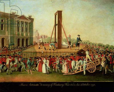 The Execution of Marie-Antoinette (1755-93) 16th Oct 1793 (oil on copper)