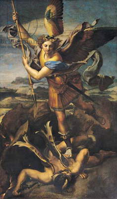 St. Michael Overwhelming the Demon, 1518 (oil on canvas)