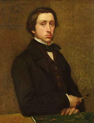 Self portrait, 1855 (oil on canvas)