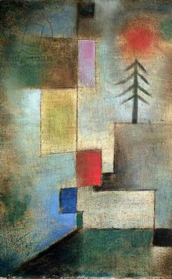 Small picture of fir trees, 1922 (no 176) (oil on muslin on cardboard)