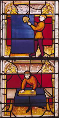 Cloth Merchant's Window (stained glass)
