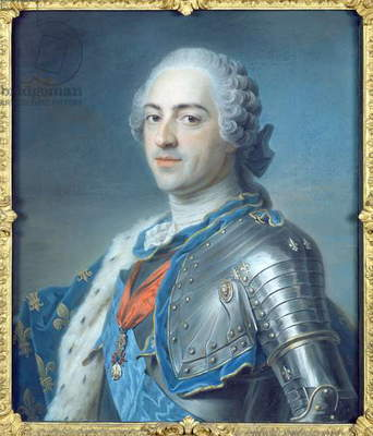 Portrait of King Louis XV (1710-74) 1748 (pastel)
