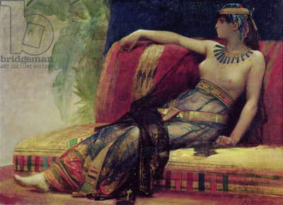 Cleopatra (69-30 BC), preparatory study for 'Cleopatra Testing Poisons on the Condemned Prisoners' (oil on canvas)
