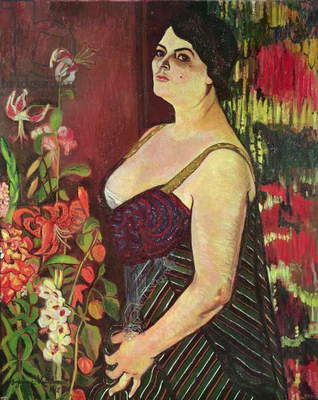 Portrait of Madame Coquiot, 1918 (oil on canvas)