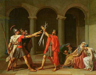 The Oath of Horatii, 1784 (oil on canvas)