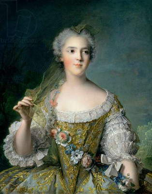 Portrait of Madame Sophie (1734-82), daughter of Louis XV, at Fontevrault, 1748 (oil on canvas)