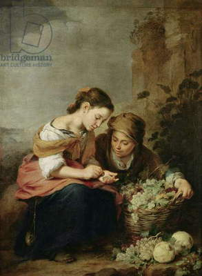 The Little Fruit-Seller, 1670-75 (oil on canvas)