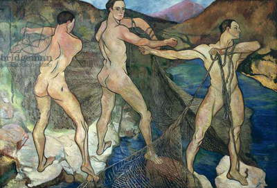 Casting the Net, 1914 (oil on canvas)