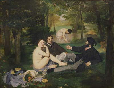 Dejeuner sur l'Herbe, 1863 (oil on canvas) (see also 65761)