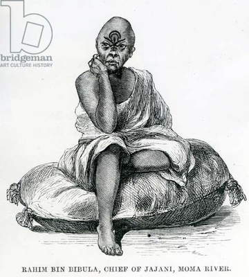 Rahim Bin Bibula, Chief of Jajani, Moma river, 1879 (engraving)