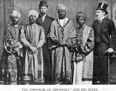 'The Emperor of Abyssinia and his Suite', The Dreadnought Hoax, 7th February 1910 (b/w photo)