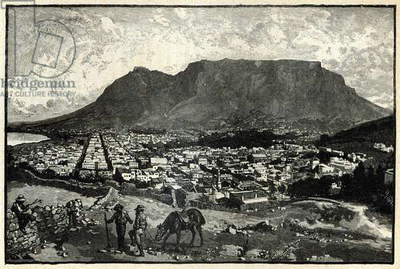 Cape Town, from 'The Life and Times of Queen Victoria' by Robert Wilson (engraving)