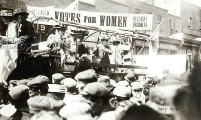 Votes for Women, August 1908 (b/w photo)