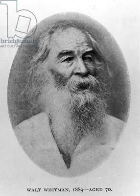 Walt Whitman, photographed in 1889 (b/w photo)