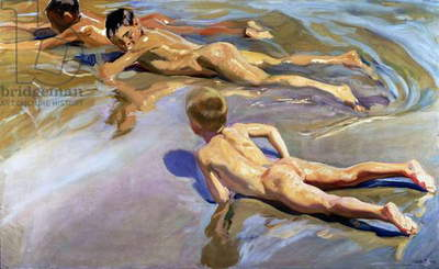 Children on the Beach, 1910 (oil on canvas)