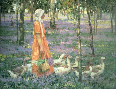 The Goose Girl, c.1922 (oil on canvas)