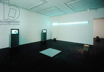 Gallery exhibiting works by Bruce Nauman (b.1941) (photo)