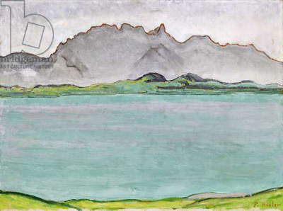 The Stockhorn Mountains and Lake Thun, 1911 (oil on canvas)