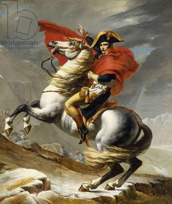 Napoleon Crossing the Grand Saint-Bernard Pass, 20 May 1800, 1802 (oil on canvas)