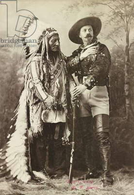 Sitting Bull and Buffalo Bill, 1885 (b/w photo)