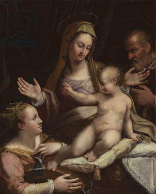 The Holy Family with Saint Catherine of Alexandria, 1581 (oil on canvas)
