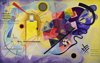 Yellow, Red, Blue, 1925 (oil on canvas)