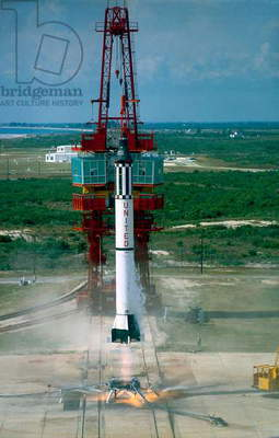 Launch of Freedom 7 by NASA on May 5 1961 (colour photo)