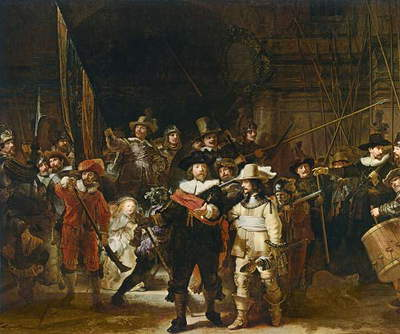The Nightwatch (colour litho)