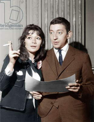 Juliette Greco and Serge Gainsbourg Received Song Prize March 14, 1959 (photo)