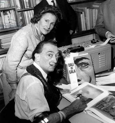 Salvador Dali and Gala (b/w photo)
