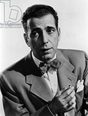 L'Acteur Americain Humphrey Bogart (1899-1957) --- The American Actor Humphrey Bogart (1899-1957) (b/w photo)