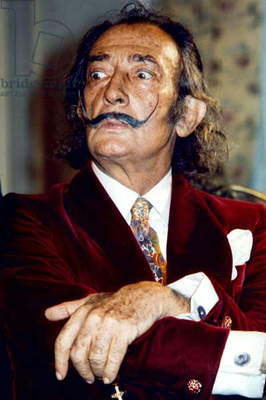Salvador Dali (1904-1989) Spanish Artist of Surrealism, here C. 1968 (photo)