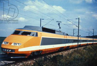 Tgv, French High-Speed Train, Orange Model Brought Into Service From 1981 (photo)