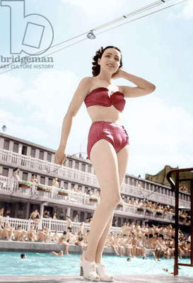 Model Wearing Swimming Suit June 12, 1949,